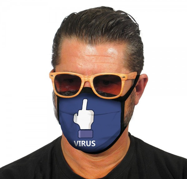 Face cover: F**k you virus!