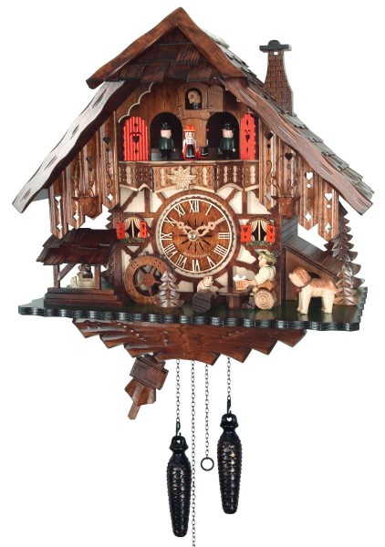 Batterie powered cuckoo clock with a beer drinker