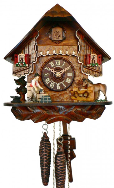 Cuckoo Clock with a horse smith