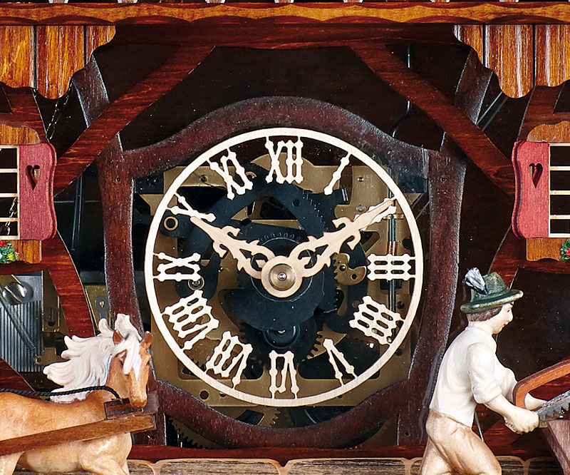 Cuckoo Clock Hunting clock SC 8TMT 185//9 NEW