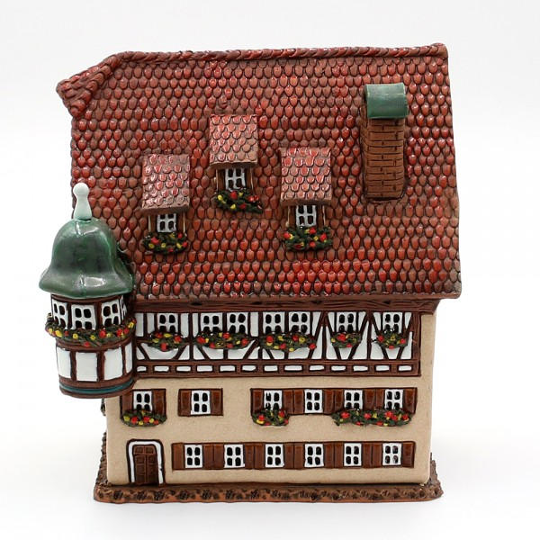 Ceramic light house Marien Apotheke in Rothenburg