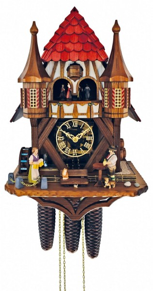 Cuckoo Clock wit a red roof and 2 little towers