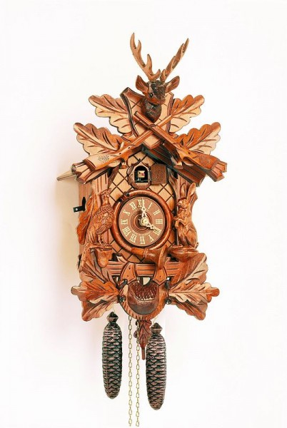Detailed hunter cuckoo clock
