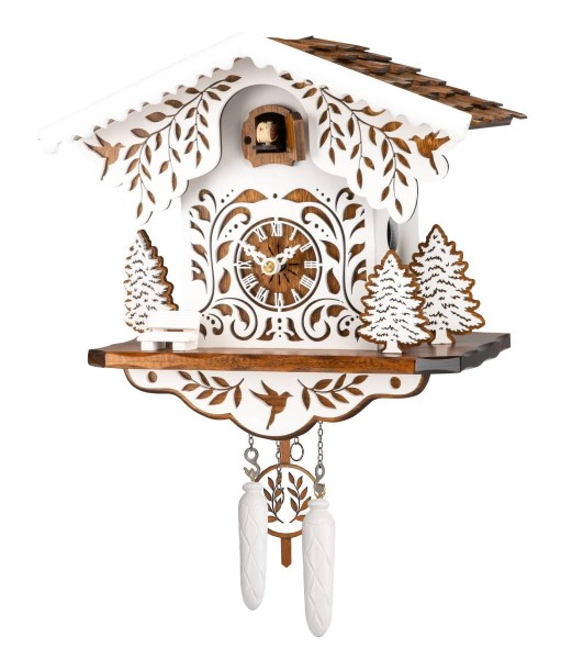 White and brown colored cuckoo clock